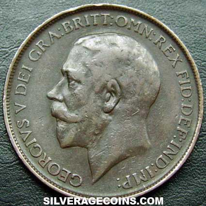 1911 George V British Bronze Penny