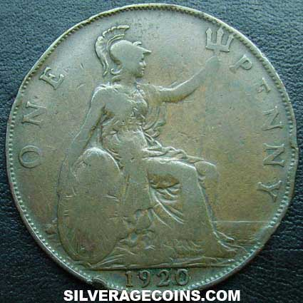 1920 George V British Bronze Penny