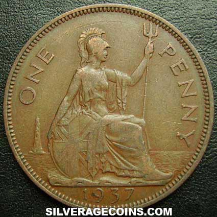 1937 George VI British Bronze Penny