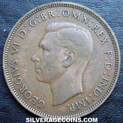 1948 George VI British Bronze Penny