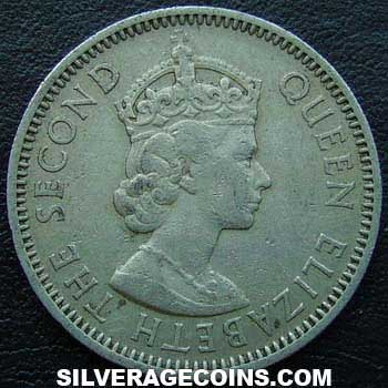 1955 British Caribbean Territories 25 Cents