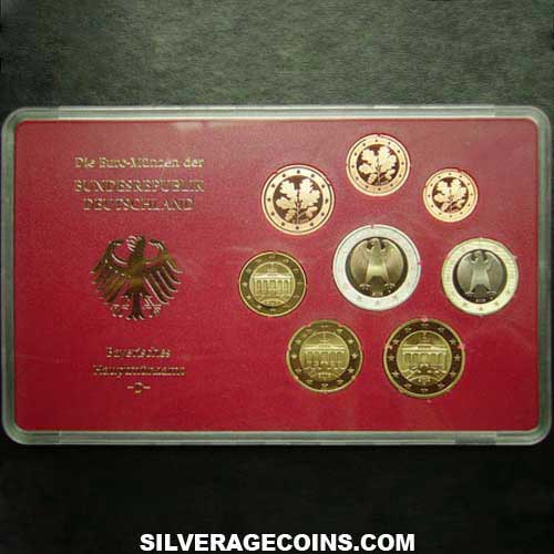 2003D (8) Proof German Euro Set (Cased)