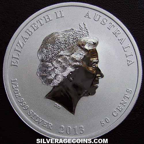 2013P 50 Cents Australian Lunar Series II Silver 1/2 Ounce (Year of the Snake)
