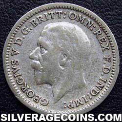 "1935 George V British Silver ""Oak Reverse"" Threepence"