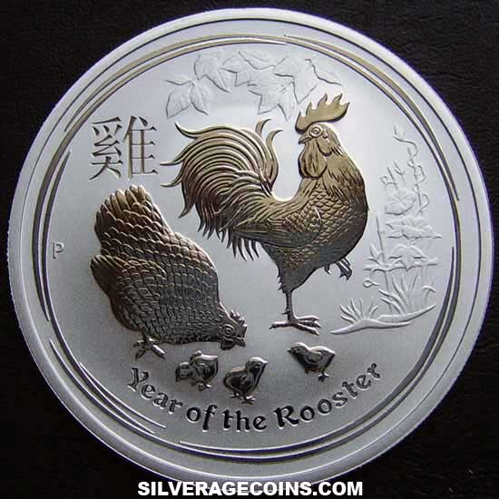 2017P 1 Dollar Australian Lunar Series II Silver 1 Ounce (Year of the Rooster)