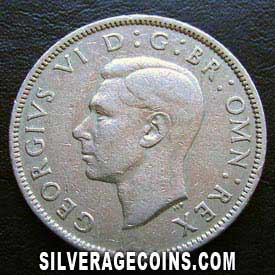 1947 George VI British 2 Shillings