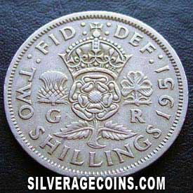 1951 George VI British 2 Shillings