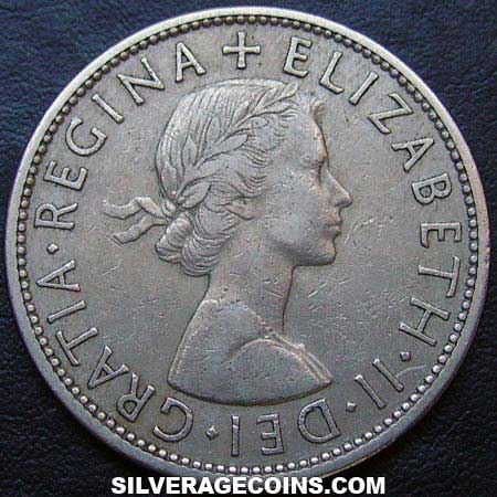 1955 Elizabeth II British Half Crown