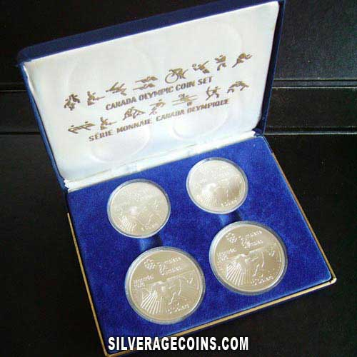1976 (4) Montreal Olympics Series VI Canadian Silver Box Set