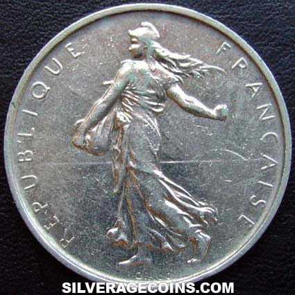1965 French Silver 5 New Francs