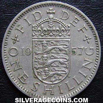 1957 Elizabeth II English Shilling