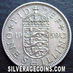 1959 Elizabeth II English Shilling