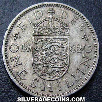1962 Elizabeth II English Shilling