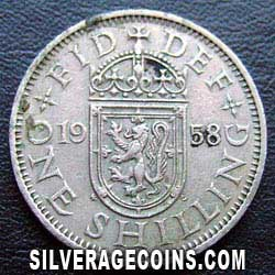 1958 Elizabeth II Scottish Shilling